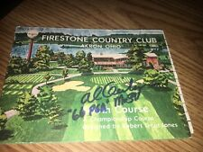 Al Geiberger 1966 PGA Championship  Signed Firestone Scorecard COA