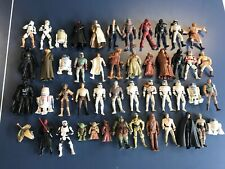 Star Wars Lot Kenner 47 Action Figures 90's 2000's Darth Vader, Luke, Yoda BA789