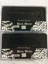 Seymour Duncan Black Winter 8 String Soapbar Pickup Set Passive In Active Mount