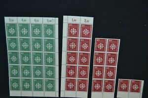 Germany 1956 Evangelical Church Convention set in Blocks unmounted mint.