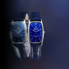 STUNNING VINTAGE OMEGA CONSTELLATION MEN'S AUTOMATIC SS BLUE DIAL WATCH