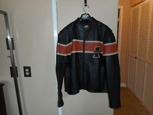 """Vintage Men's Harley-Davidson """"Victory Lane"""" #1 Distressed Leather Jacket 3XL"""