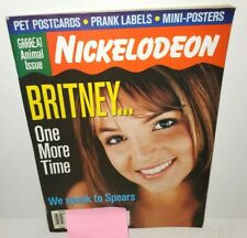 NICKELODEON MAGAZINE MARCH 2000 ISSUE BRITNEY SPEARS PRANK LABELS RUGRATS COMIC