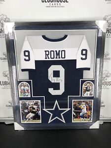 Tony Romo Authentic Autographed Framed Jersey Dallas Cowboys Beckett
