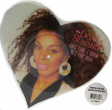 DONNA SUMMER Heart Shaped PICTURE DISC This Time I Know It's For Real NEW UNPLYD