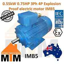 Explosion Flame Proof 3 Phase Electric 0.55kW 0.75HP 4 Pole Electric Motor IMB5