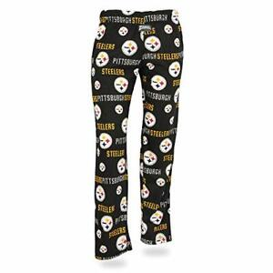Zubaz NFL Women's Pittsburgh Steelers Comfy Lounge Pants, Black