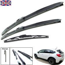 "Subaru XV 2012-on hybrid wiper blades set of front & rear 26""16""12"""