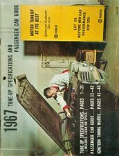 1967 NAPA Echlin Tune-Up Specifications and Passenger Car Guide