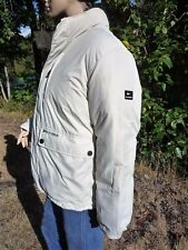 """TOMMY HILFIGER JACKET 60% DOWN M 50"""" CHEST REVERSING BROWN TO CREAMY IVORY HOOD"""