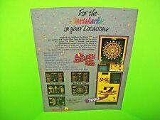 Arachnid ENGLISH MARK DARTS 7000 Original NOS Arcade Game Promo Sales Flyer