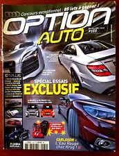 Option Auto n°169 du 12/2008; Spécial Essai Brabus Bullit/ Audi R8/ Ultimate 112