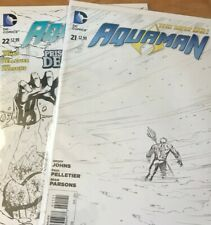 Aquaman 2 Issue Lot of #21 & 22: Retailer Variant 1:25
