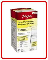 Playtex Nurser Bottle Liners Drop-Ins. 100 Count 8-10 oz. New. Free Shipping.
