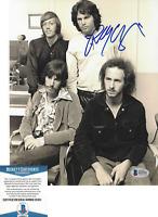 ROBBY KRIEGER - THE DOORS GUITARIST - SIGNED 8x10 PHOTO B PROOF BECKETT BAS COA