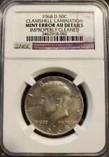 1968 D Kennedy Half Dollar Clamshell Error