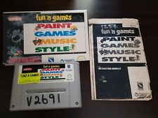 FUN N GAMES PAINT GAMES MUSIC STYLE SUPER NINTENDO SNES super nintendo free post