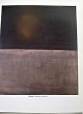 Mark Rothko Black on Grey Poster 14x11 Offset Lithograph Unsigned