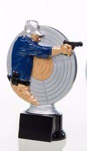 Pistole Schützen-Pokal (Resin-Figur) mit Wunschgravur (39228)
