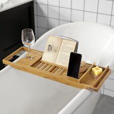 SoBuy®Bandeja de bambú para bañera,estante de baño,ajustable,FRG207-N,ES