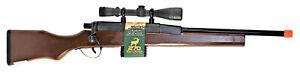 Bolt Action 270 Rifle Solid Wood Steel & Plastic Scope & Magazine Training Toy