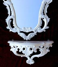 Consola de Pared Blanco Con Espejo Barroco 50x76 Bandeja cómoda Retro REPRO