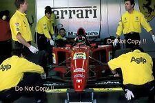 Michael Schumacher Ferrari 412 T2 primo TEST FIORANO circuito 1995 Fotografia