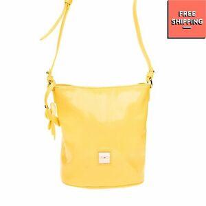 RRP €105 LIU JO JUNIOR Crossbody Bag Varnished Saffiano Panel Butterfly Charm