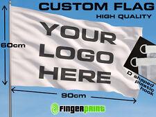 CUSTOM FLAG 60 x 90 logo business full color colour fan club emblem advertising