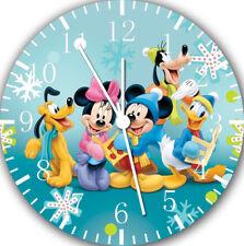 Disney Mickey Mouse Frameless Borderless Wall Clock For Gifts or Home Decor E12