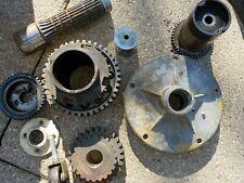 INDUSTRIAL STEAMPUNK LAMP PARTS iron gear machine age sprocket VINTAGE lot 3