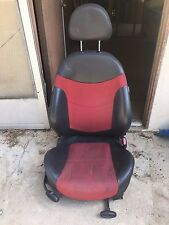 2005-2008 Mini Cooper OEM Red and Black Passenger Side Right Side Bucket Seat