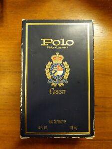 Ralph Lauren Polo Crest Eau De Toilette 4oz Full Bottle w/ Box