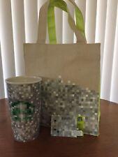 Rodarte Starbucks Bundle Canvas Tote Bag Ceramic Mug Tumbler No Lid & Gift Card