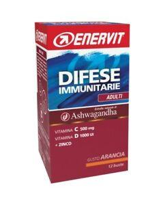 Enervit Difese Immunitarie Adulti con Ashwagandha vitamina C D e Zinco 12 buste