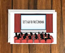 Lets go to the Cinema Greeting Card A6