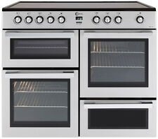 FLAVEL MLN10CRS Electric Ceramic Range Cooker 5-zone A Silver & Chrome