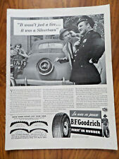 1942 B F Goodrich Tire Ad Stole Silvertown Tire Vintage Automobile