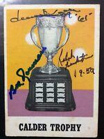*SIGNED* 1970-71 OPC #258 CALDER TROPHY  ~ DAVE KEON, B. ROUSSEAU, R. BACKSTROM