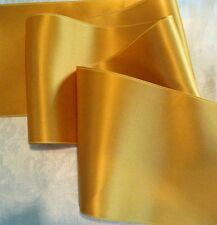 "2"" WIDE SWISS DOUBLE FACE SATIN RIBBON- OLD GOLD / MUSTARD - BY THE YARD"