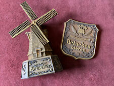 """Heineken Beer Collectible Windmill Bar or Man Cave Display 21"""" & Crest used"""