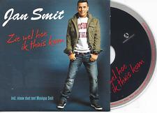 JAN SMIT - Zie wel hoe ik thuis kom CD SINGLE 2TR Enh Dutch Cardsleeve 2010