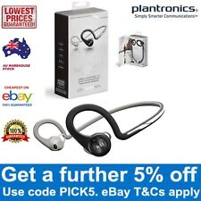 Plantronics Backbeat Fit Bluetooth Wireless Sport Headset Power Black Waterproof