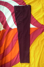 burgundy mod pants/trousers, psychedelic, skinhead, freakbeat, 26x29.5