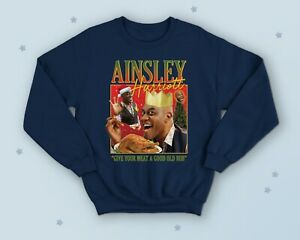 Ainsley Harriott Christmas Jumper Sweater Funny Cooking TV Icon Legend Turkey