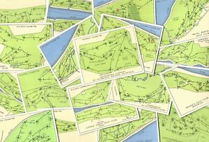 CHAMPIONSHIP GOLF COURSES - PLAYERS 1936 CIGARETTE CARDS - PICK YOUR CARD (RF01)
