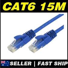 1 x 15m Blue Cat 6 Cat6 1000Mbps  RJ45 Ethernet Network LAN Patch Cable