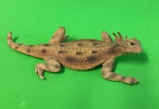 More details for fabulous lifelike painted metal sculpture of a horned toad, 12.5 cm long