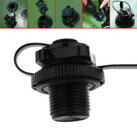 Air Valve Caps Screw For Inflatable Boat Fishing Boat Raft Airbed Outdoor Black