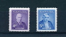 CANADA 1955 PRIME MINISTERS (4th issue) SG483/484 BLOCKS OF 4 MNH